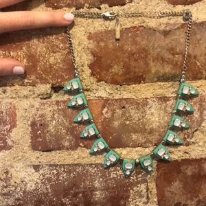 Teal and diamond necklace